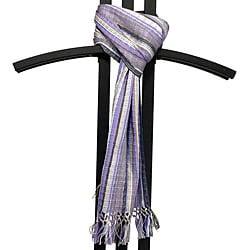 Backstrap Loom 'San Juan' Lavender Scarf (Guatemala)