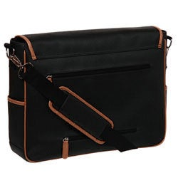 Royce Leather Pebble Laptop Messenger Bag