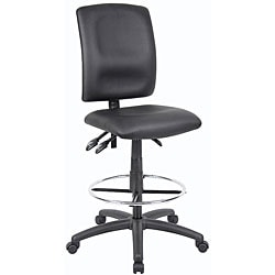 Boss LeatherPlus Multifunction Drafting Stool