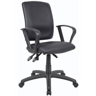 Boss LeatherPlus Multifunction Task Chair