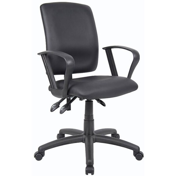 Boss LeatherPlus Multifunction Task Chair