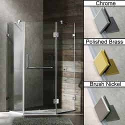 Vigo 38 x 38 Frameless Neo-angle Clear Shower Enclosure