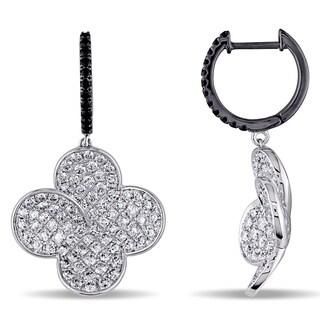 SHIRA 18k Gold 2ct TDW Black and White Diamond Earrings (G-H, SI1-SI2)