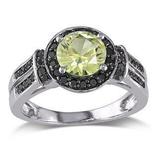 10k Gold Created Yellow Sapphire and 1/3ct TDW Diamond Ring