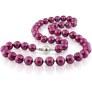 Miadora Cranberry Cultured Freshwater Pearl 18-inch Strand (9-10 mm)
