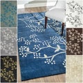 Handmade Alexa Pino Spring Season Floral Rug (7&#39;6 x 9&#39;6)