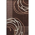 nuLOOM Hand-tufted Pino Collection Geometric Brown Rug (5' x 8')