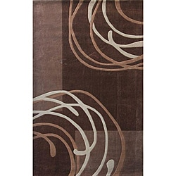 nuLOOM Hand-tufted Pino Collection Geometric Brown Rug (7'6 x 9'6)