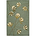 Handmade Soho Blue New Zealand Contemporary Wool Rug (7'6 x 9'6)