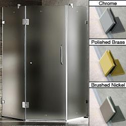 Vigo 36 x 36 Frameless Neo-angle Frosted Shower Enclosure