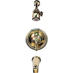 Moen Single-handle Polished Brass Tub and Shower Combination Faucet