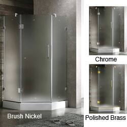 Vigo Frameless Neo-angle Frosted Shower Enclosure (36 x 36)