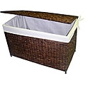 Woven Maize Walnut Storage Chest