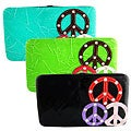 Peace Sign Faux Leather Hard Cover Wallet