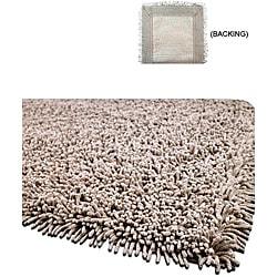 Handmade Shaggy Beige Premium Cotton Rug (3' x 5')