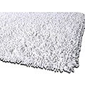 Hand-woven Premium Shaggy White Cotton Rug (4' Round)