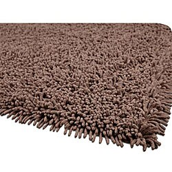 Hand-woven Premium Shaggy Brown Cotton Rug (4' Round)