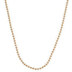 Sterling Essentials 14k Gold over Silver 20-inch Bead Chain