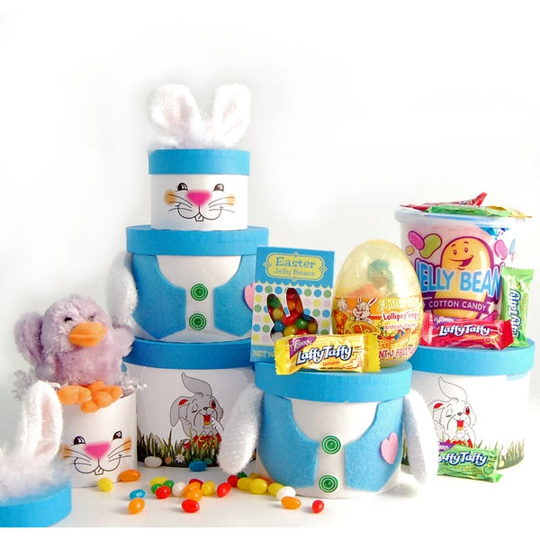 Happy Easter Bunny Treat Gift Tower