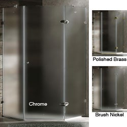 VIGO Frameless Neo-Angle 3/8-inch Frosted Shower Enclosure