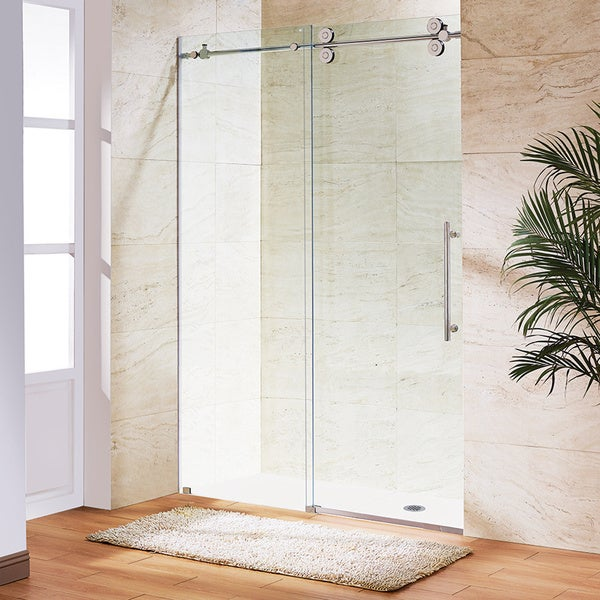 Vigo 60-inch Clear Glass Frameless Sliding Shower Door