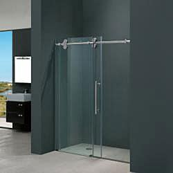 "VIGO 72-inch Frameless Shower Door 3/8"" Sliding Shower Door"