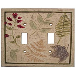 Falling Leaves Double Switch Plates (Set of 6)