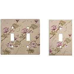 Rose Trail Single and Double Switch Plates (Set of 8)