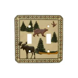 Outdoorsman Double Switch Plates (Set of 6)