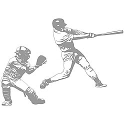 Baseball Grand Slam and Catcher Sudden Shadows Wall Decal
