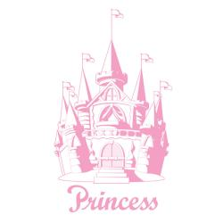 Pink Castle Sudden Shadows Wall Decal
