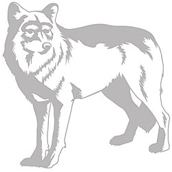 Wolf Sudden Shadows Wall Decal