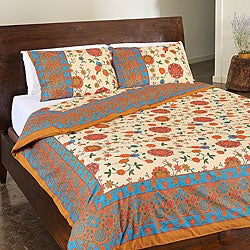 Sodhi Spring Multi 3-piece Duvet Set (India)