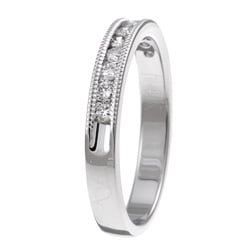 14k White Gold 1/4ct TDW Diamond Miligrain Detail Ring (H-I, I1-I2)