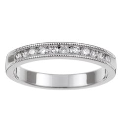 14k White Gold 1/4ct TDW Diamond Miligrain Wedding Band (H-I, I1-I2)