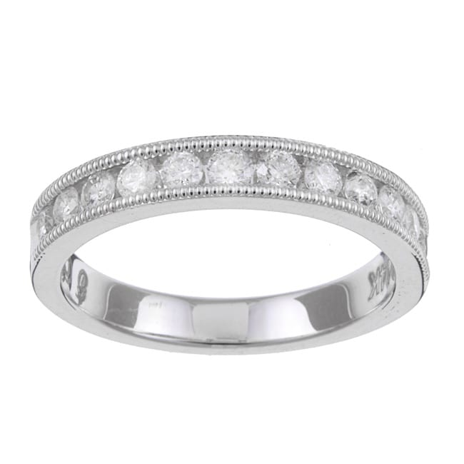 Unending Love 14k White Gold 1/2ct TDW Diamond Miligrain Wedding Band (H-I, I1-I2)