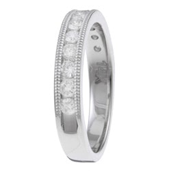 14k White Gold 1/2ct TDW Diamond Miligrain Detail Ring (H-I, I1-I2)