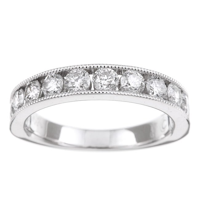 14k White Gold 1ct TDW Diamond Miligrain Detail Ring (H-I, I1-I2)