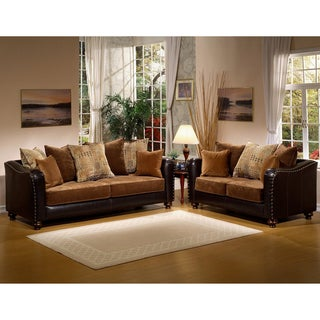 Furniture of America Classic Valira 2-piece Sofa/ Loveseat Set