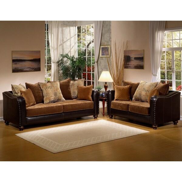 Furniture of America Classic Valira 2-piece Sofa/ Loveseat Set