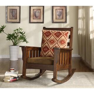 Furniture of America Rosewood Dark Oak Rocking Accent Chair