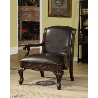 Antique Dark Cherry Accent Chair