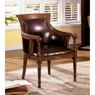 Antique Oak Accent Chair