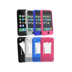 4-pack Silicone Skin Cases for Apple iPhone 3G 3GS