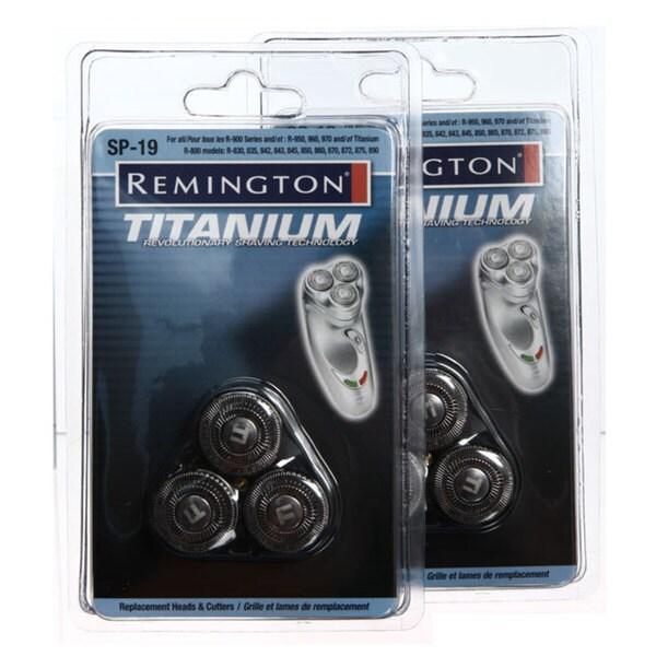Remington SP-19 Titanium MicroFlex Replacement Heads (Pack of 2)