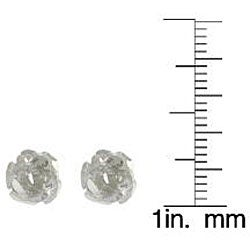 Tressa Sterling Silver Rose Stud Earrings
