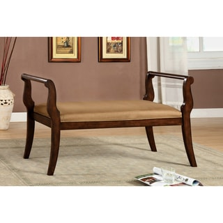 Furniture of America Wood European-style Settee Bench