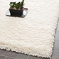 Plush Super Dense Hand-woven Honey White Premium Shag Rug (6' x 9')