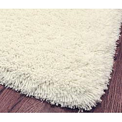 Plush Super Dense Hand-woven Honey White Premium Shag Rug (6' Square)