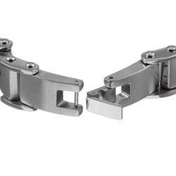 Two-tone Stainless Steel Men's Cross Bracelet